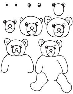 how to draw a bear step by step how to draw a teddy bear step by step easy clipart best how step a draw bear step by to