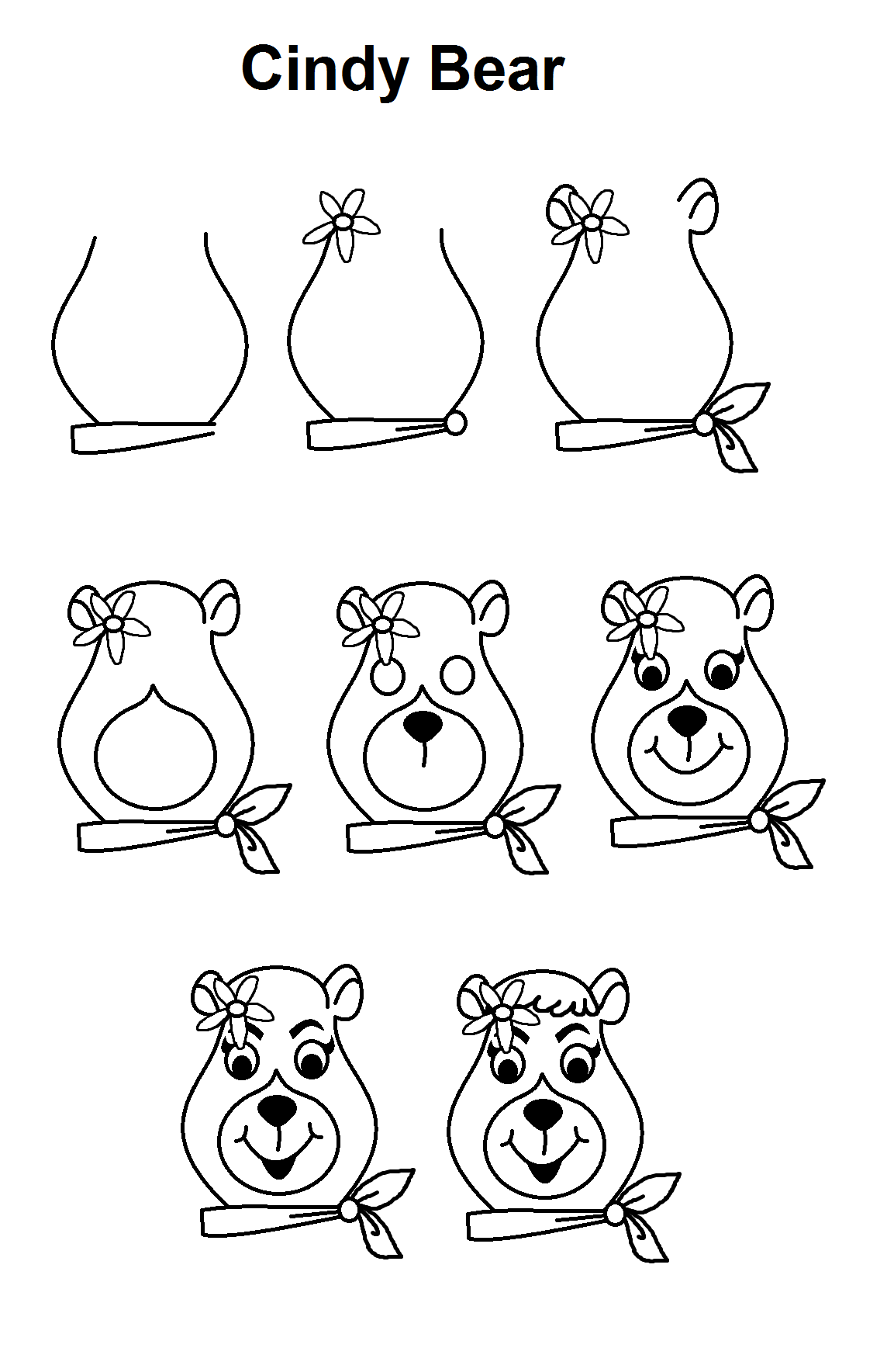 how to draw a bear step by step step by step tutorial to draw cindy bear with images by how to draw a step step bear
