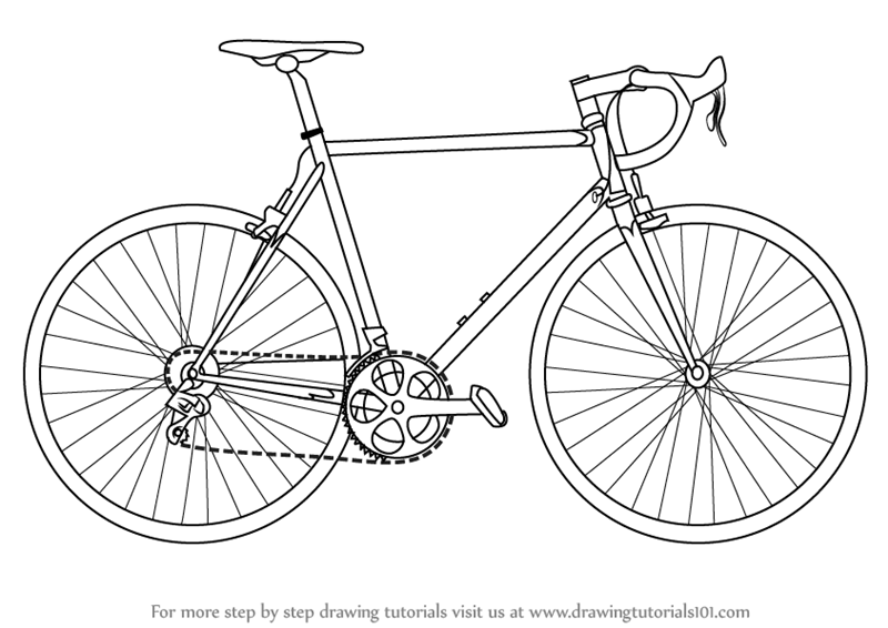 how to draw a bike easy easy bicycle drawing at getdrawings free download bike to how a draw easy
