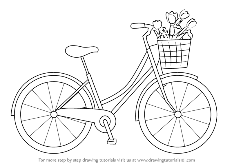 how to draw a bike easy easy bicycle drawing at getdrawings free download easy how bike to draw a