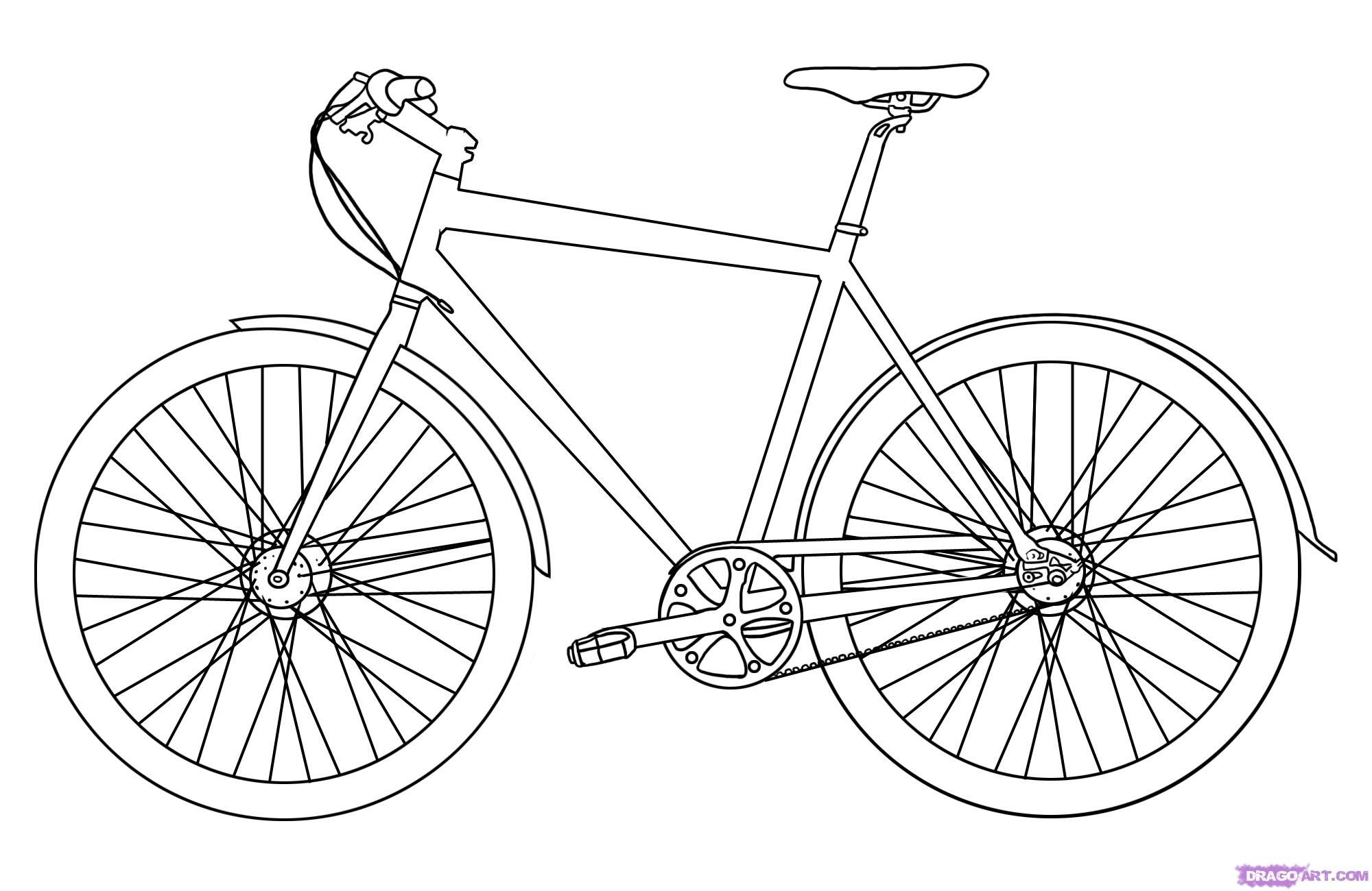 how to draw a bike easy easy bicycle drawing at getdrawings free download to easy draw a how bike