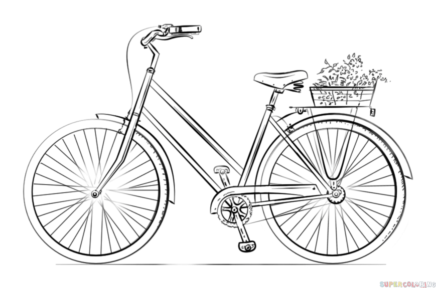 how to draw a bike easy how to draw a bicycle step by step drawing tutorials to a how easy draw bike