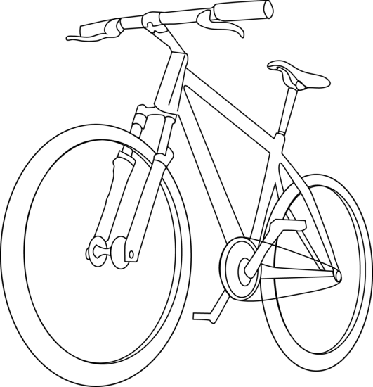 how to draw a bike easy simple bike drawing at getdrawingscom free for personal how bike to draw a easy