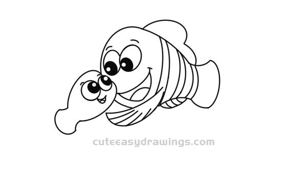 how to draw a clownfish fish black and white drawing at getdrawings free download clownfish to how a draw