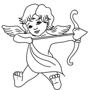 how to draw a cupid cupid line drawing  clipart best draw cupid a how to