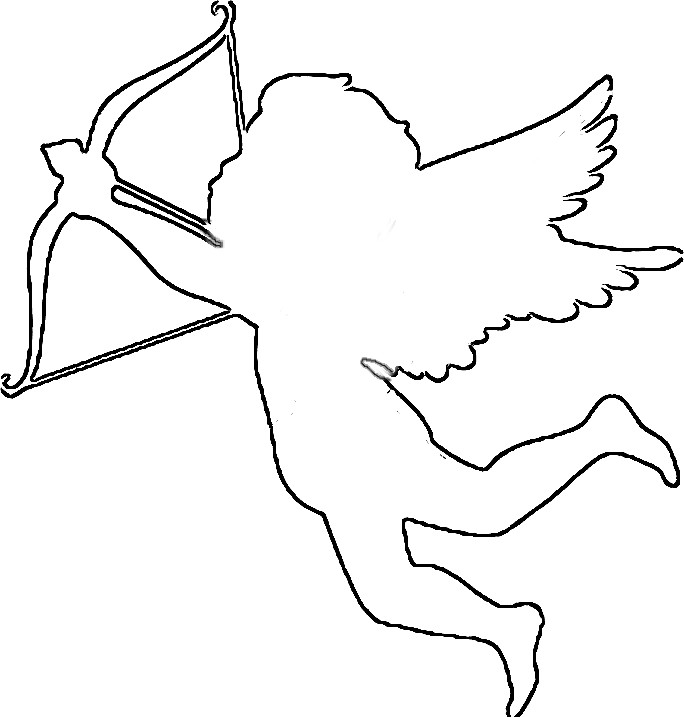 how to draw a cupid cupid line drawing  clipart best draw cupid to how a