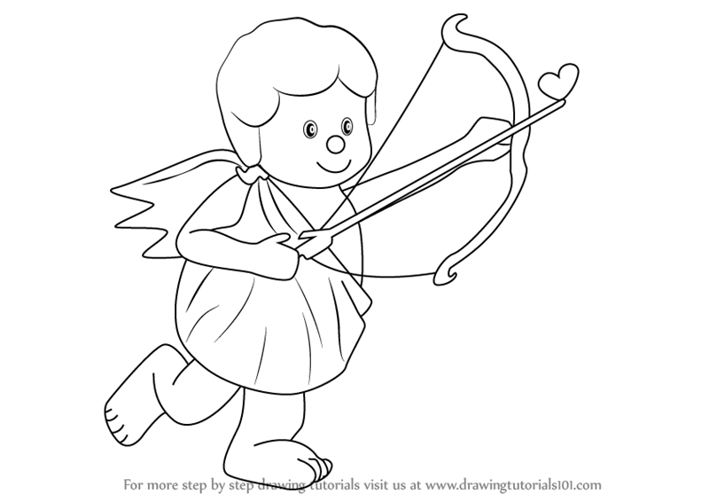 how to draw a cupid drawing cupid with easy step by step instructions for cupid to how a draw