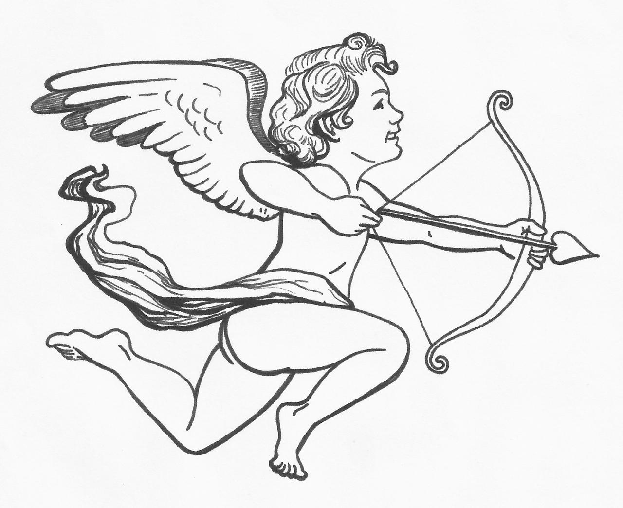how to draw a cupid easy cupid drawing at getdrawings free download how a to cupid draw