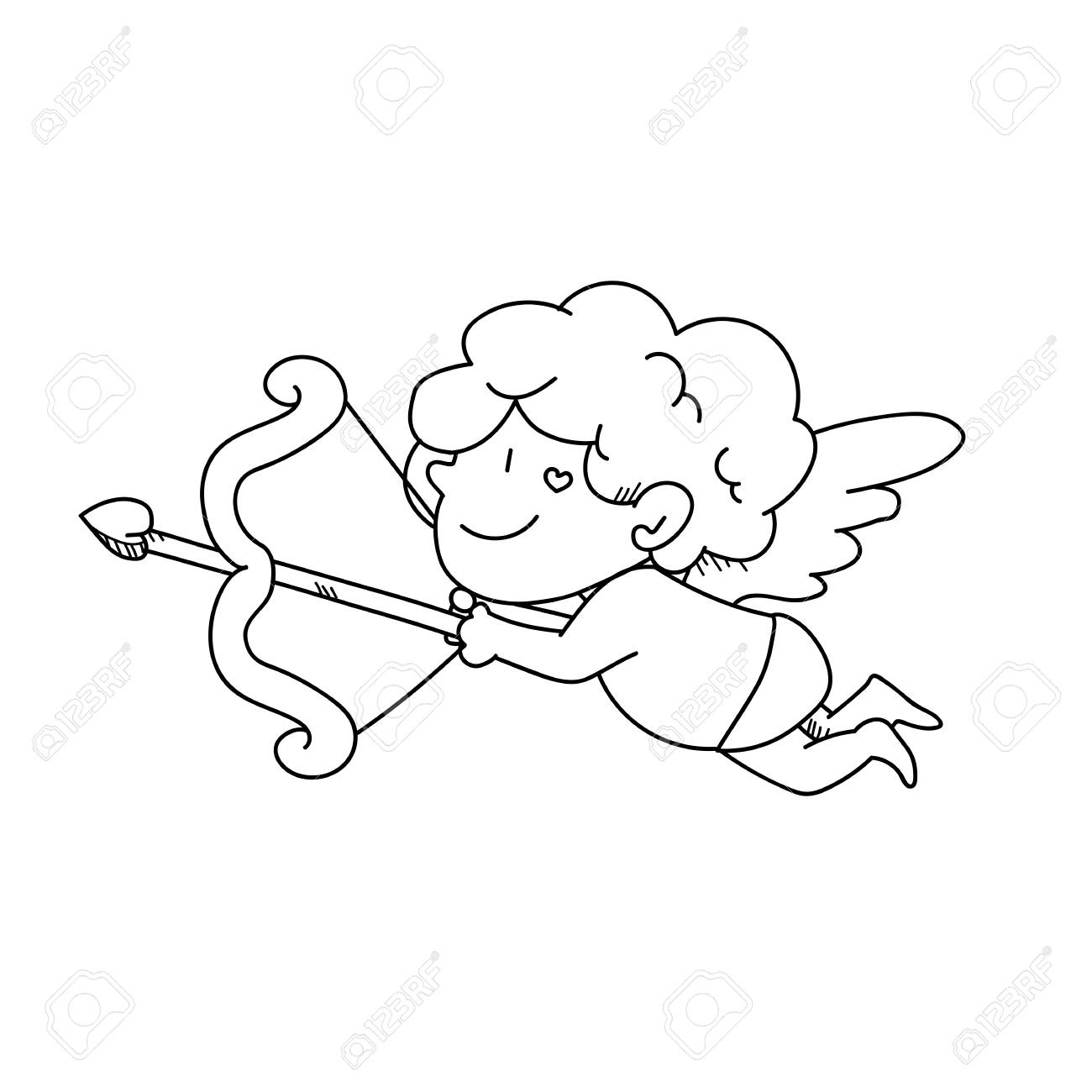how to draw a cupid valentines day coloring pages cupid to draw how a