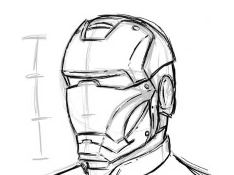 how to draw a iron man helmet extremely simple way to draw ironman youtube helmet man to a iron draw how
