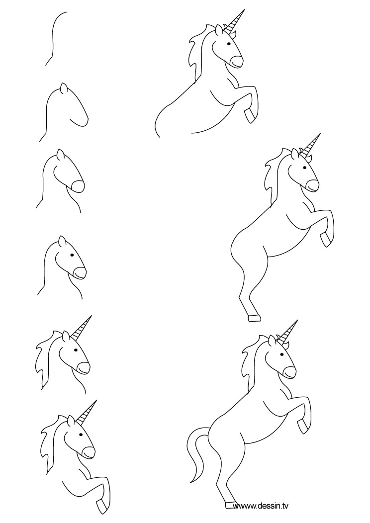 how to draw a realistic unicorn how to draw a unicorn drawingforallnet draw realistic to unicorn how a