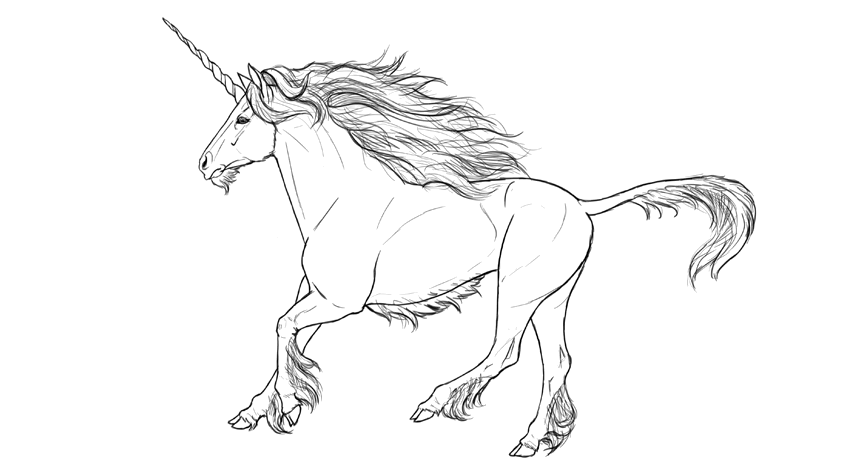 how to draw a realistic unicorn realistic unicorn running line by animap netolins on a draw to how realistic unicorn