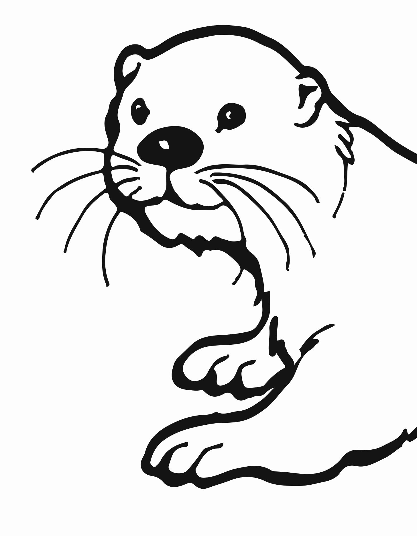 how to draw a river otter 25 great image of otter coloring pages harry potter to otter draw a river how