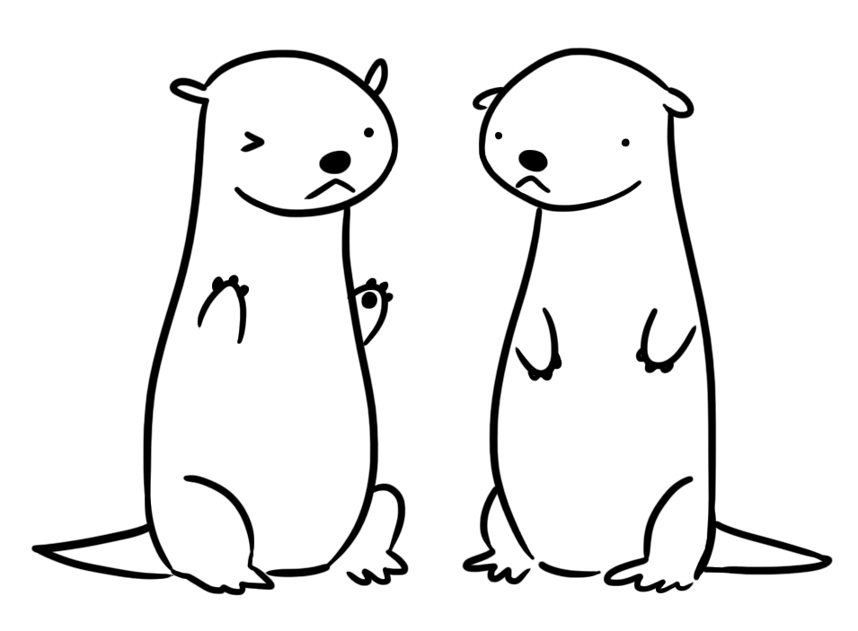 how to draw a river otter otter drawings with images animal drawings sketches a draw river to how otter