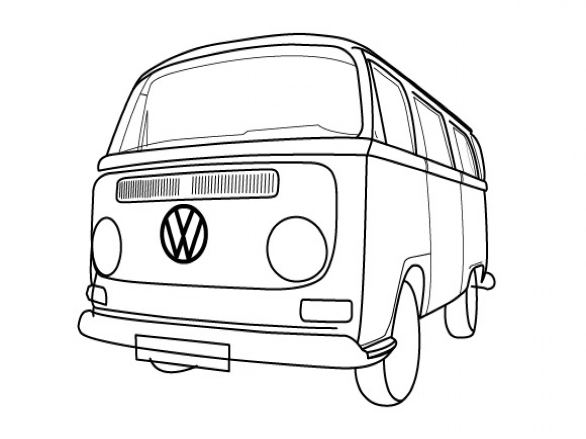 how to draw a volkswagen bus bus line drawing at getdrawings free download volkswagen a how to bus draw