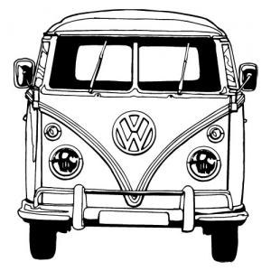 how to draw a volkswagen bus hippie bus drawing vw bus van drawing bus drawing a draw volkswagen how to bus