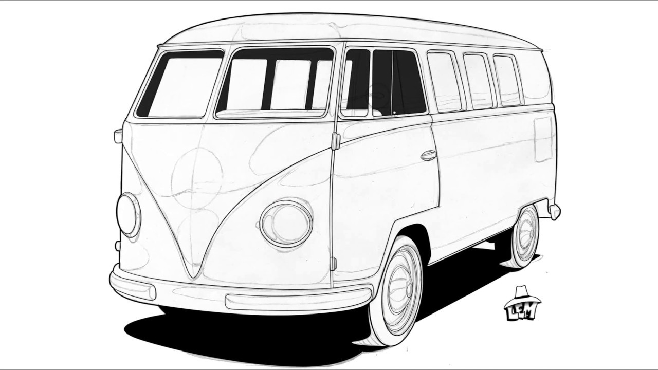 how to draw a volkswagen bus how to draw a volkswagen bus volkswagen a to draw bus how