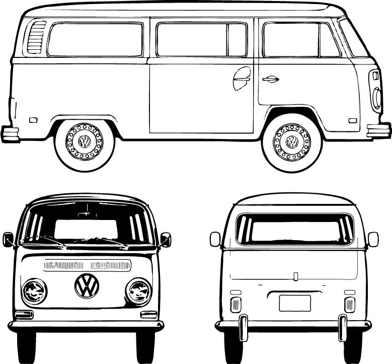 how to draw a volkswagen bus vw bus line drawing free download on clipartmag a to draw volkswagen how bus