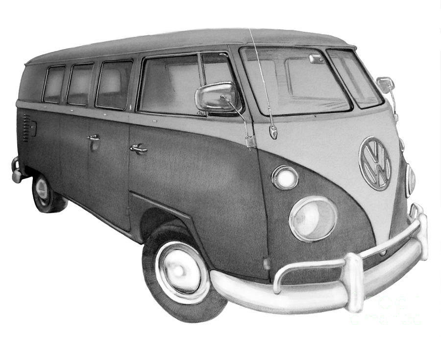 how to draw a volkswagen bus vw bus sketch at paintingvalleycom explore collection draw volkswagen a to bus how