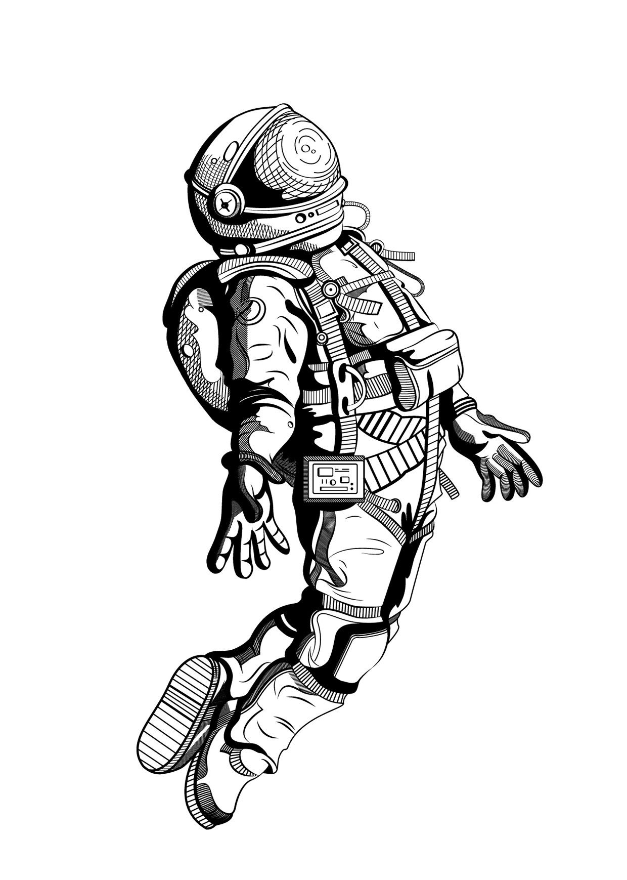 how to draw an astronaut an astronaut wearing a damage spacesuit coloring page draw how astronaut to an
