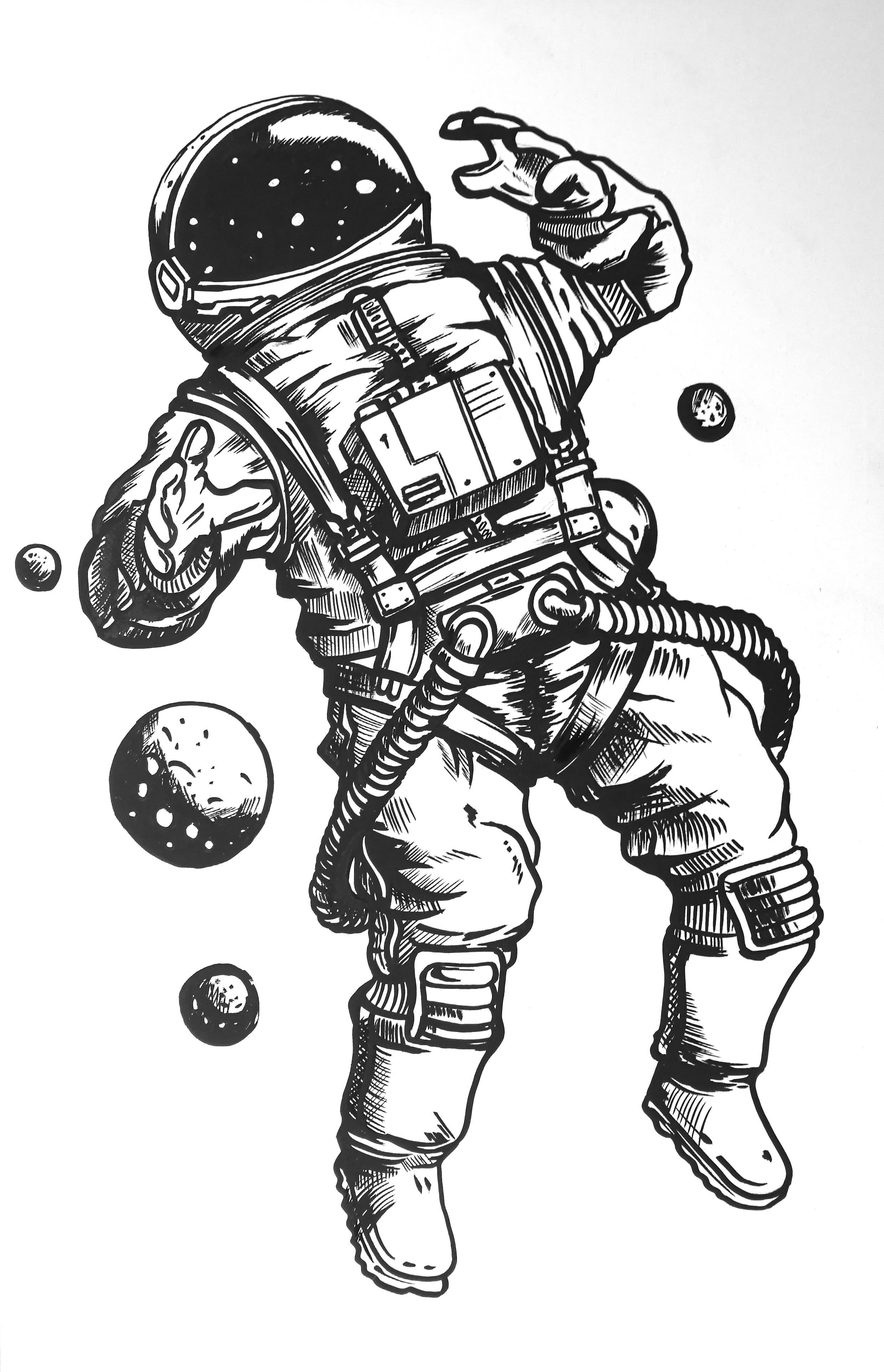 how to draw an astronaut hand drawn sketch of astronaut in black how to draw an to draw astronaut how