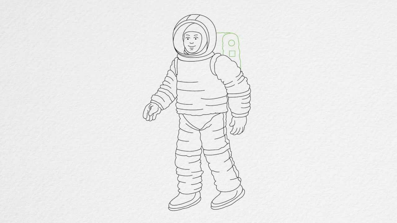 how to draw an astronaut how to draw an astronaut step by step drawing tutorials draw an astronaut how to