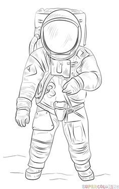 how to draw an astronaut illustration drawing of astronaut download illustration 2020 an how draw astronaut to