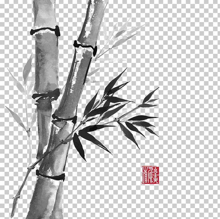 how to draw bamboo leaves bamboo drawing ink wash painting png clipart bamboo leaves how bamboo to draw