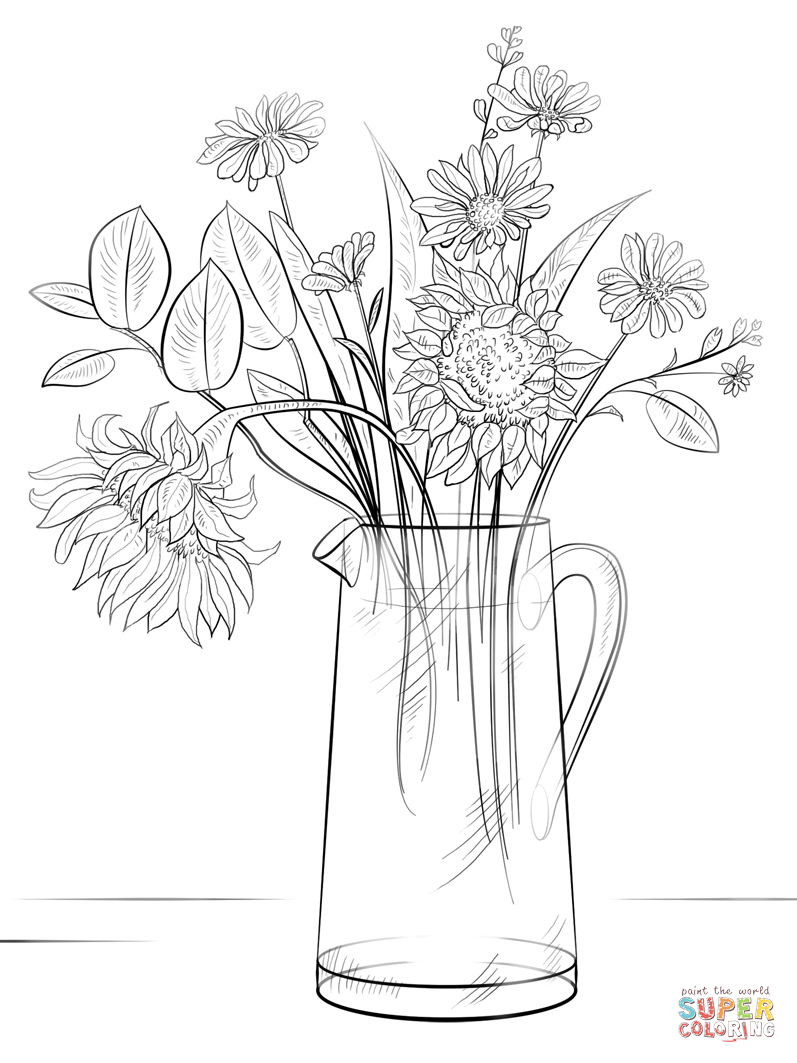 how to draw bunch of flowers step by step bouquet of flowers coloring page free printable coloring bunch step to how of draw step by flowers