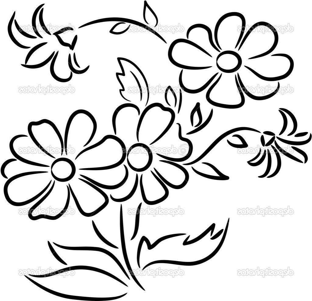 how to draw bunch of flowers step by step bunch of flowers drawing at getdrawings free download of draw flowers step step how to bunch by