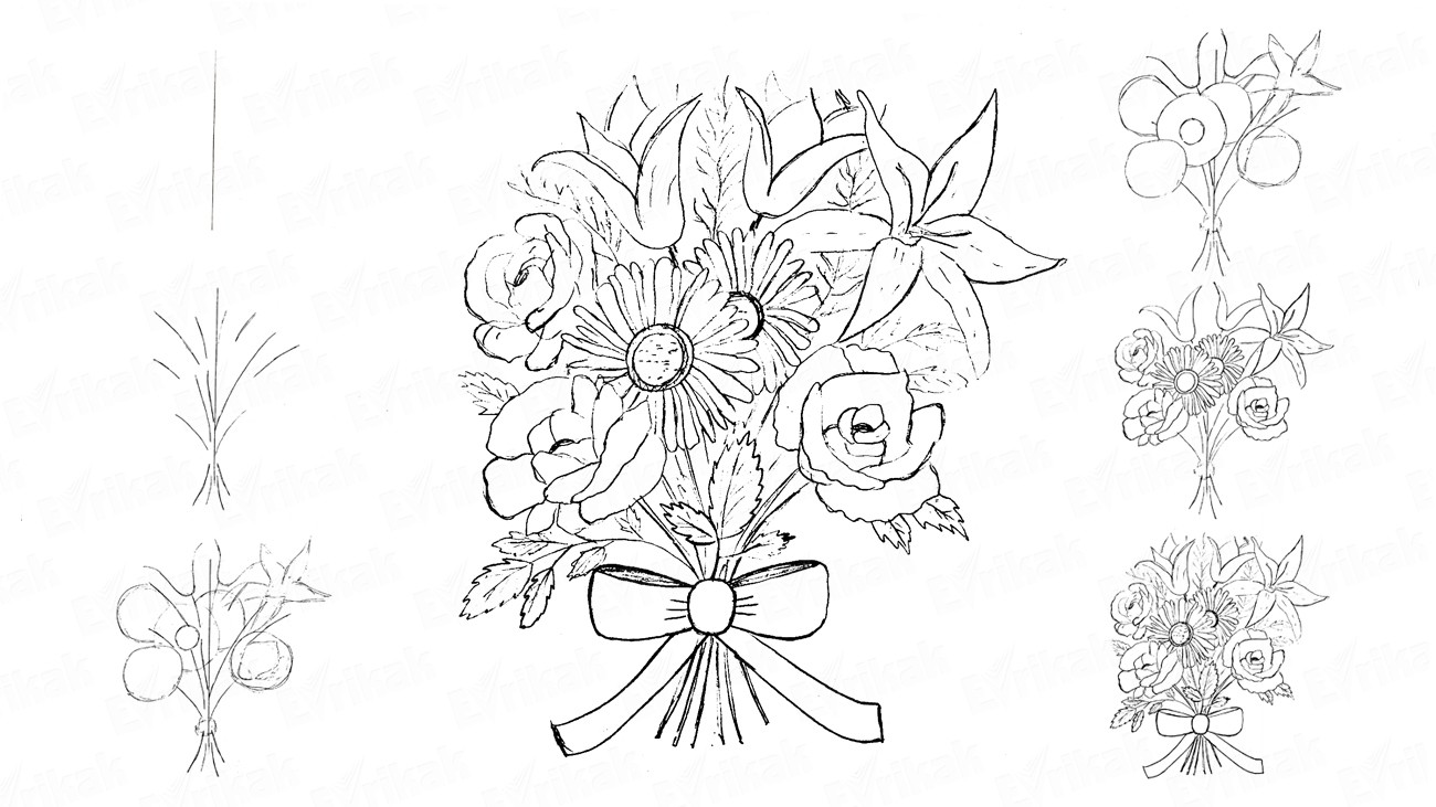 how to draw bunch of flowers step by step how to draw a beautiful bouquet of flowers step by step how to of bunch by step draw step flowers