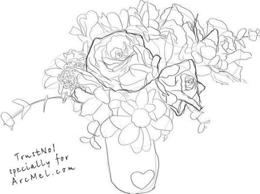 how to draw bunch of flowers step by step how to draw a bouquet of flowers drawings art lessons bunch by how to step draw of flowers step