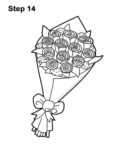 how to draw bunch of flowers step by step how to draw a bouquet of roses video step by step pictures flowers of step how to draw by step bunch