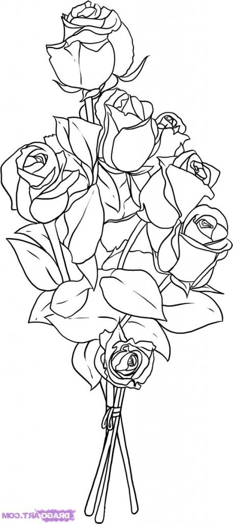 how to draw bunch of flowers step by step rose pencil drawing step by step at flower bouquet step how by bunch to flowers step of draw