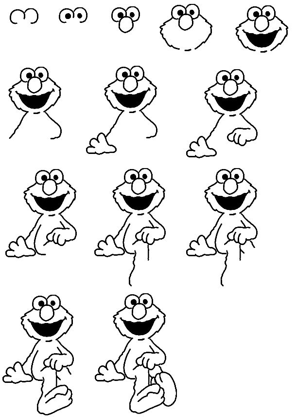 how to draw elmo easy learn how to draw elmo from sesame street sesame street easy elmo how draw to