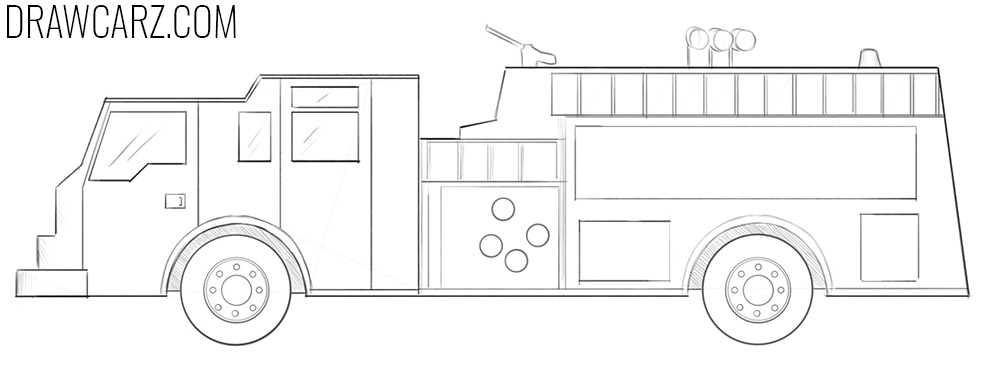 how to draw fire engine drawing fire engine coloring pages kids play color how engine to draw fire