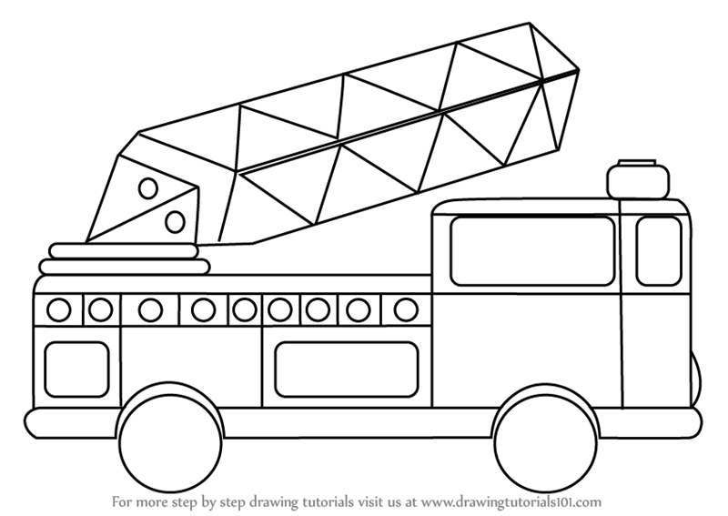 how to draw fire engine how to draw a fire truck step by step drawing guide by to how fire engine draw