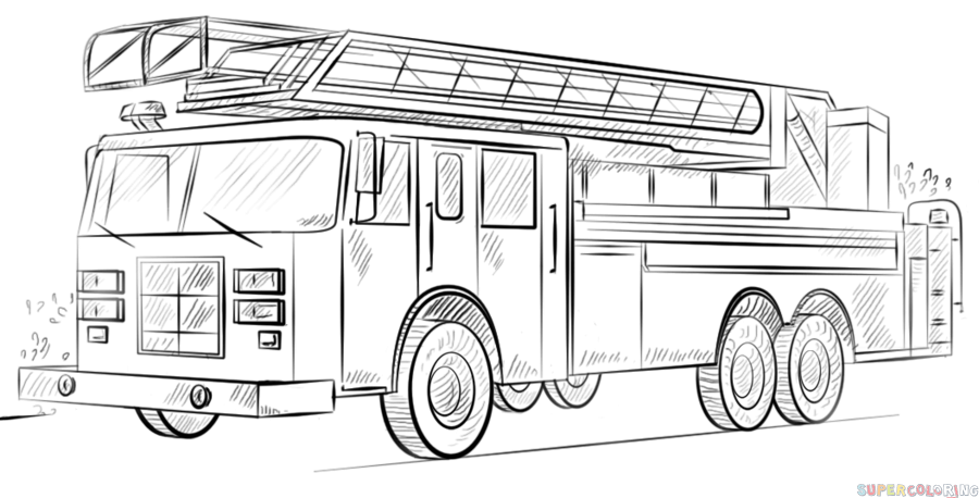 how to draw fire engine how to draw a fire truck step by step drawing tutorials to draw fire how engine