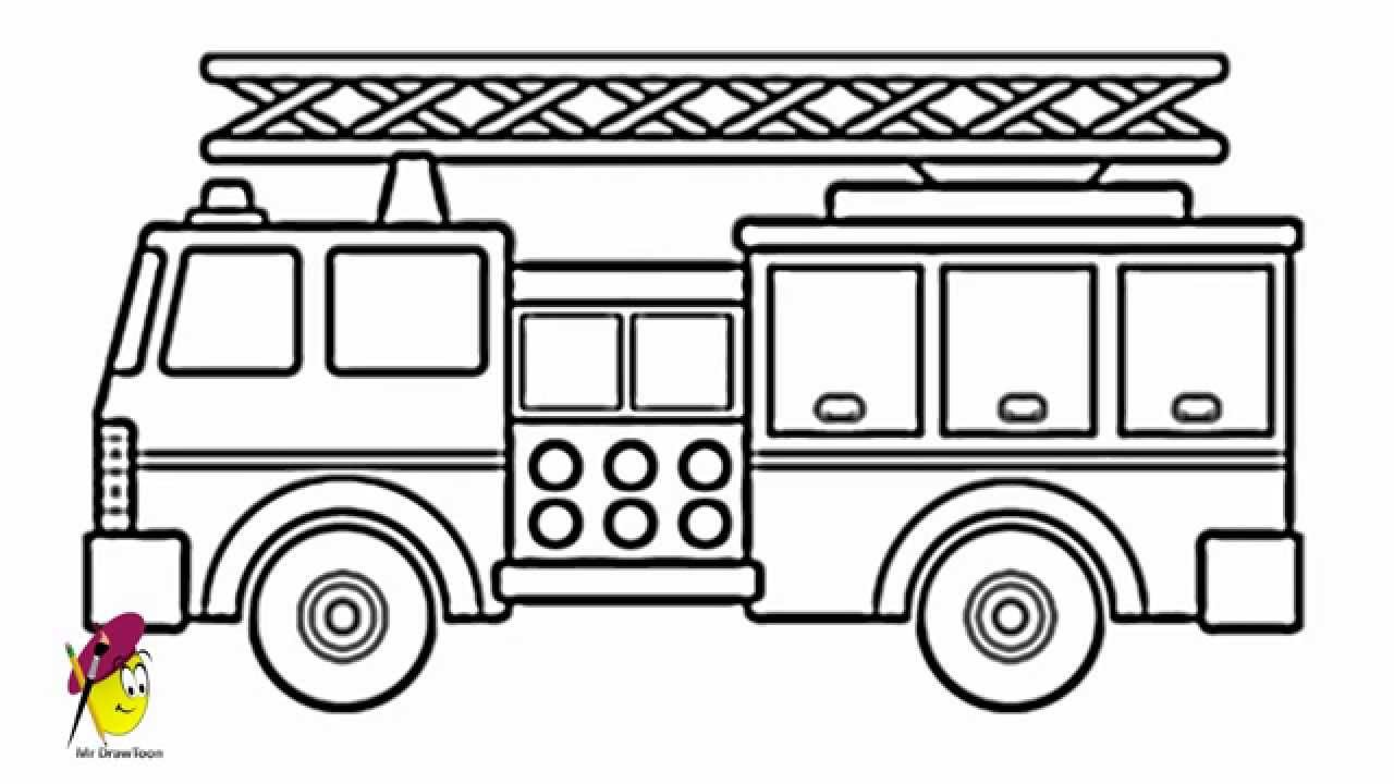 how to draw fire engine how to draw fire engine coloring pages kids play color to draw how fire engine