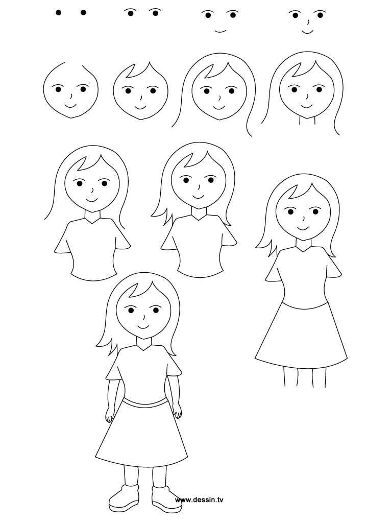 how to draw girls animated people drawing at getdrawings free download girls how to draw