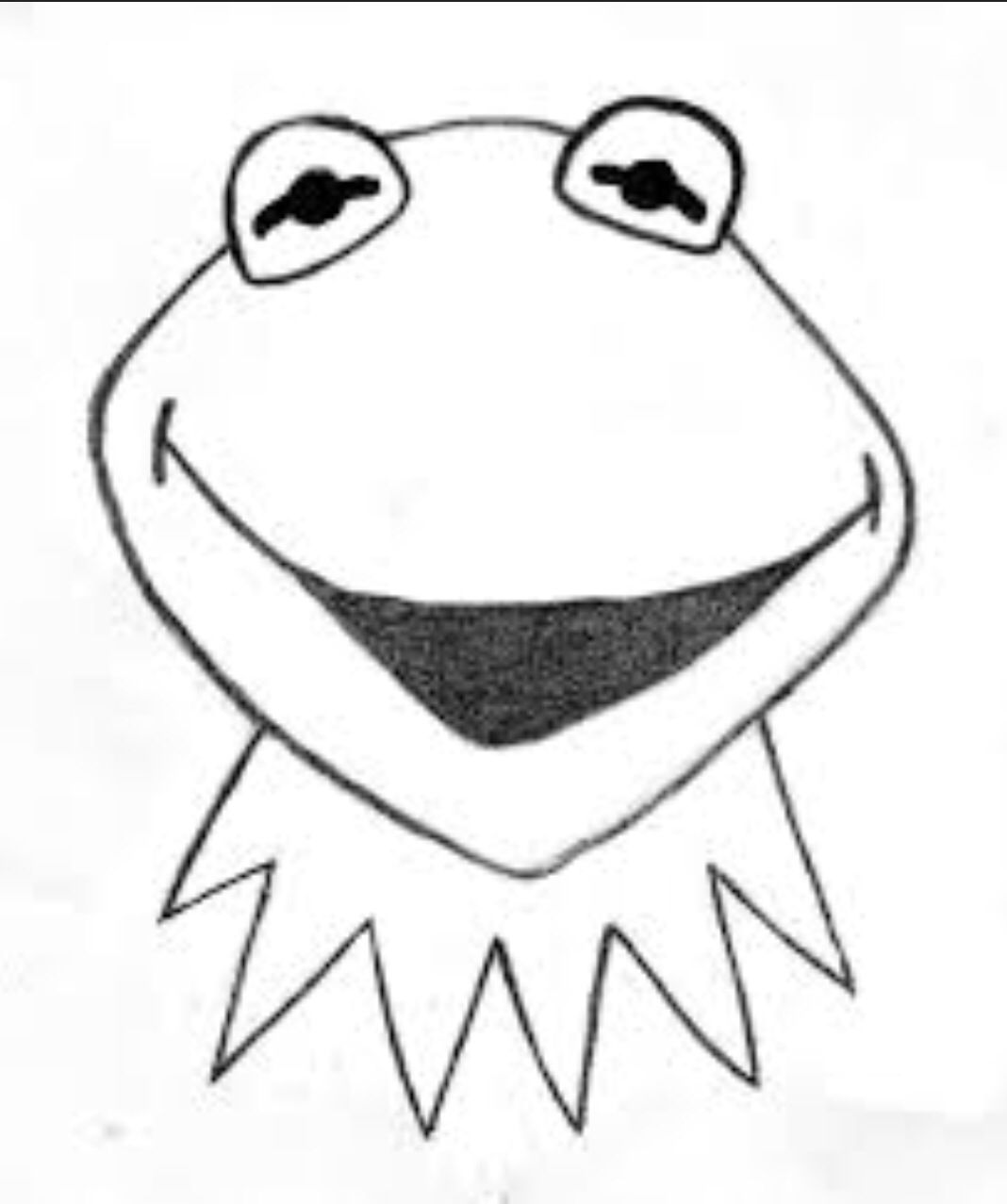 how to draw kermit the frog kermit easy to draw drawing pinterest kermit the to draw how frog kermit