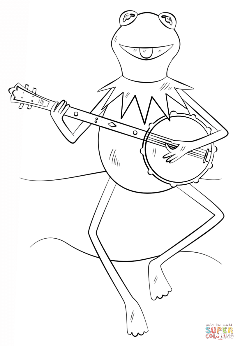 how to draw kermit the frog the best place for coloring page at coloringsky part 24 draw to how frog kermit the