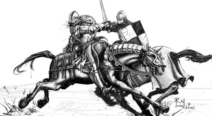 how to draw knights fighting two groups of medieval knights begin to fight drawing by how fighting knights to draw
