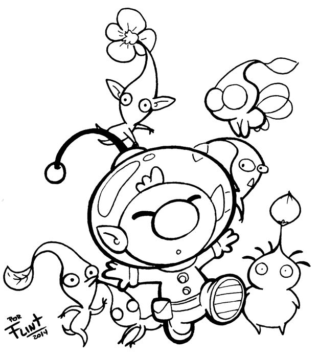 how to draw pikmin end of day pikmin 3 commission by th3antiguardian on how draw pikmin to