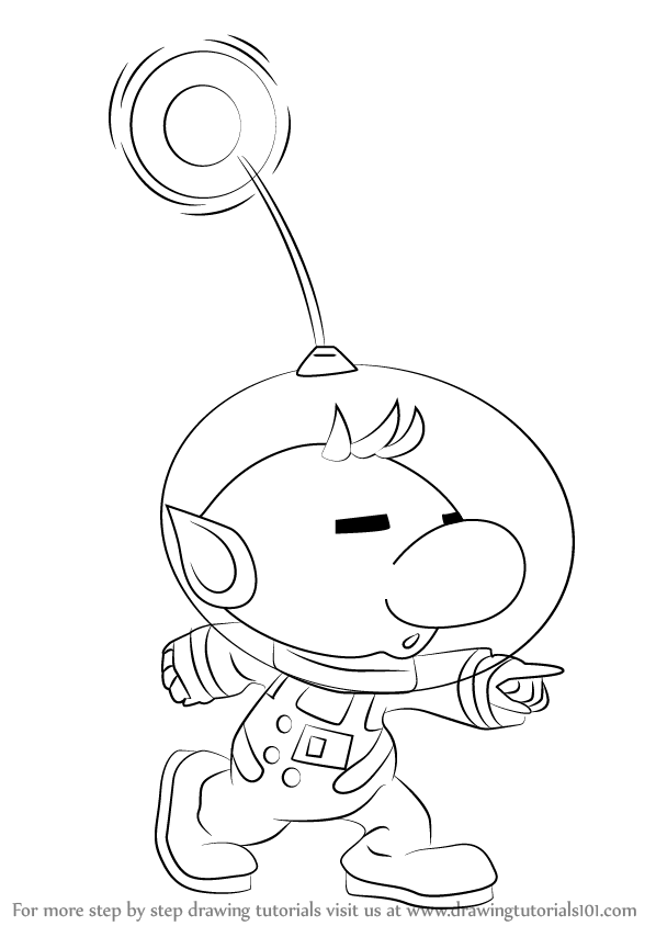 how to draw pikmin learn how to draw olimar from super smash bros super how to draw pikmin
