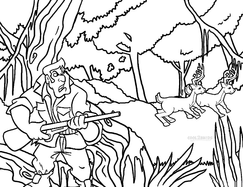 hunting coloring sheets printable hunting coloring pages for kids cool2bkids hunting coloring sheets 1 2