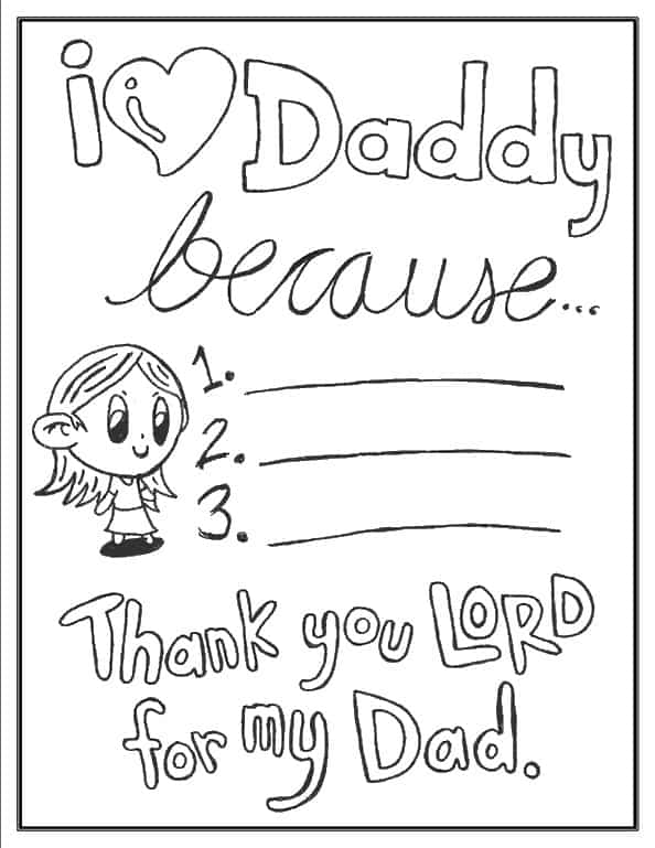 i love my dad coloring pages father39s day coloring pages 100 free easy print pdf i dad love pages my coloring