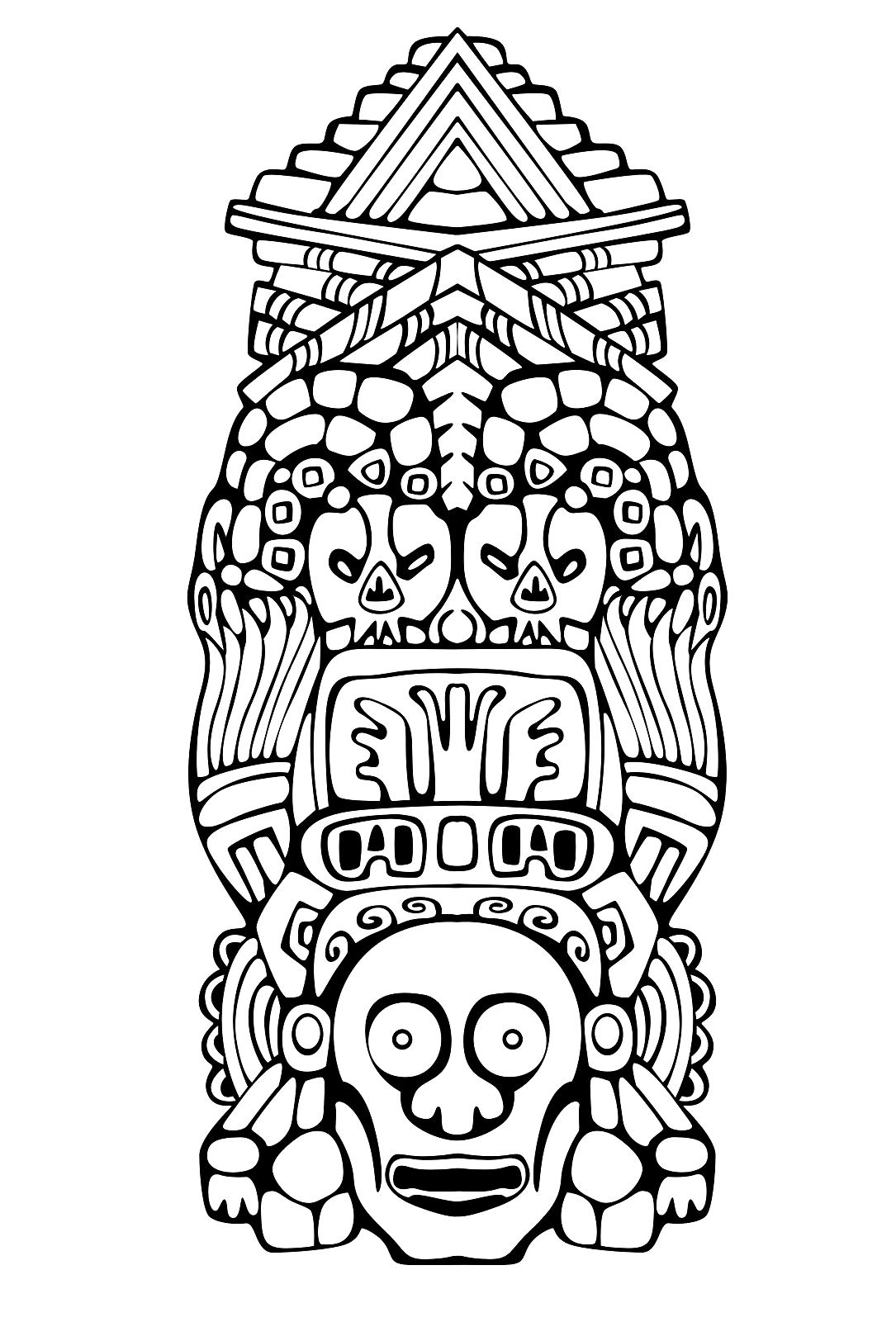 inca coloring pages adult totem inspiration inca mayan aztec 1 coloring pages pages inca coloring