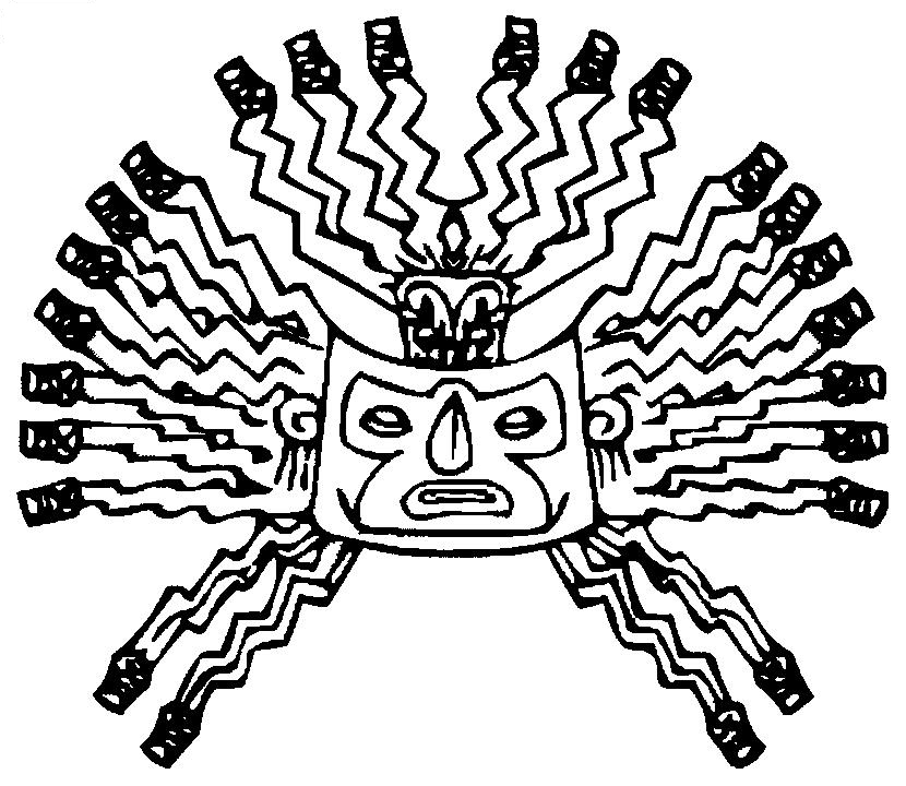 inca coloring pages adult totem inspiration inca mayan aztec 4 coloring pages inca pages coloring
