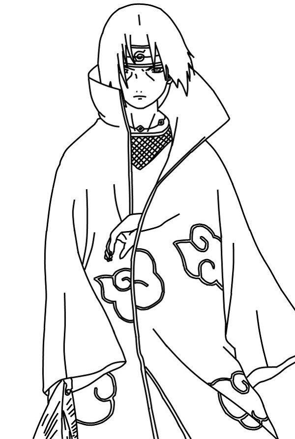 itachi coloring pages uchiha itachi lineart by dranzertheeternal on deviantart coloring pages itachi